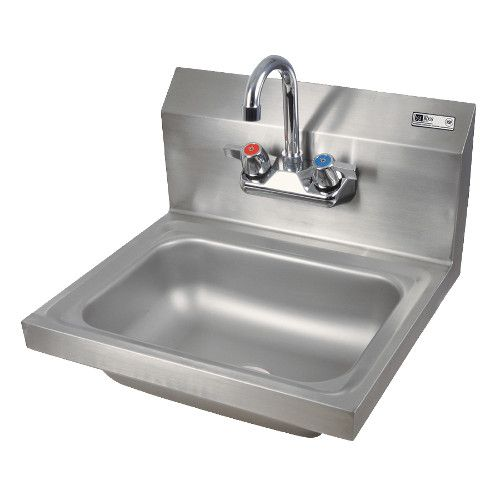 John Boos PBHS-W-1410-P Wall Mount Pro-Bowl Hand Sink with Splash Mount Faucet