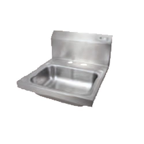 John Boos PBHS-W-1410-2DM Wall-Mount Pro-Bowl Hand Sink with Deck Mount Faucet Holes