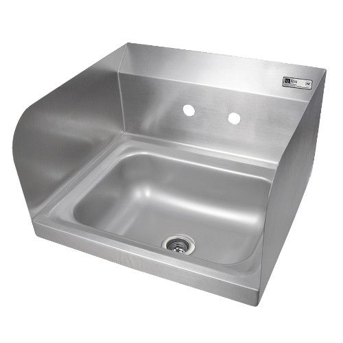 John Boos PBHS-W-1410-SSL Wall Mount Pro-Bowl Hand Sink with Left Side Splash