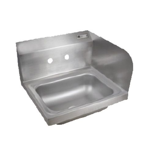 John Boos PBHS-W-1410-SSR Wall Mount Pro-Bowl Hand Sink with Right Side Splash