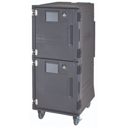Cambro PCUPH2615 Front Loading Electric Pro Cart Ultra Ambient / Hot Food Pan Carrier - 220 Volts