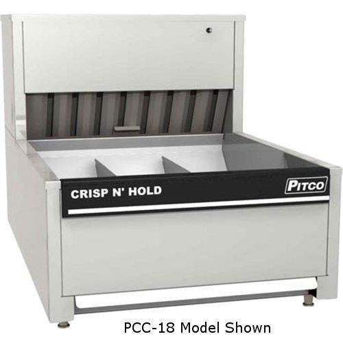 Pitco PCC-18 Three Section Crisp N Hold Countertop French Fry Warmer