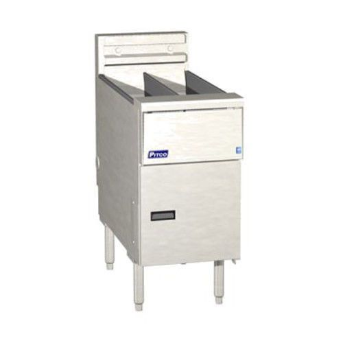 Pitco SE14T Electric Split Pot Floor Fryer Twin Vat - 20-25 lb. Capacity - 17kW/hr