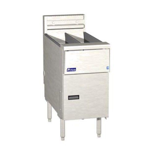 Pitco SE14T Electric Split Pot Floor Fryer Twin Vat - 20-25 lb. Capacity - 17kW/hr