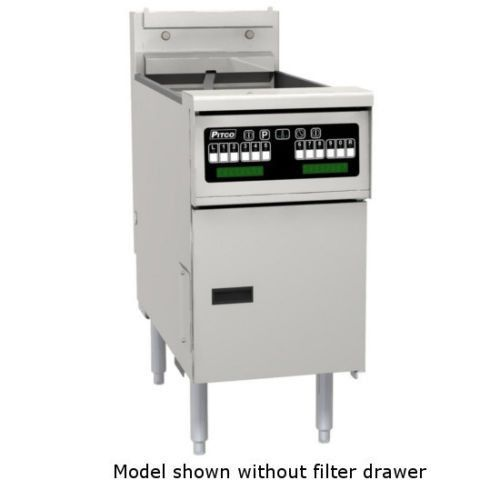 Pitco SELV14T-C/FD Reduced Oil Volume Electric Split Pot Fryer with Filter Drawer
