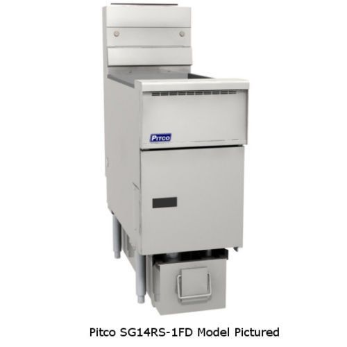 Pitco SG14RS-4FD Solstice Gas Fryers with Filter & Four 50 lb. Capacity Tank