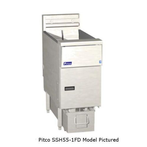 Pitco SSH55R-3FD High Efficiency Gas Fryer & Filter - (3) 50 lb Oil Capacity Tanks