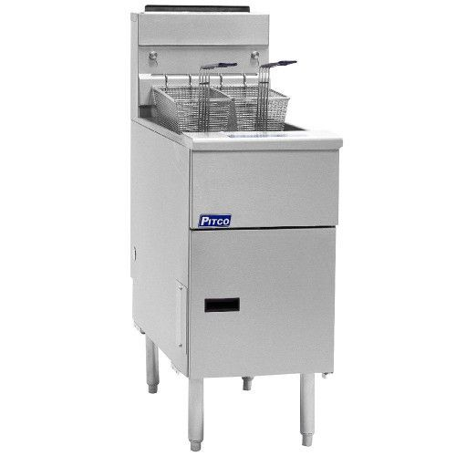 Pitco SSH75 Supreme High Efficiency Gas Floor Model Fryer - 75 lb Oil Capacity
