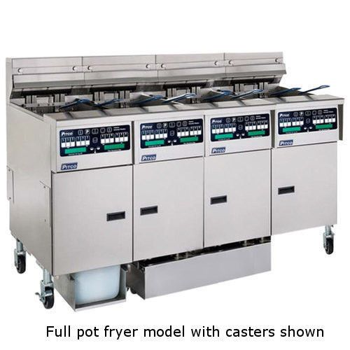 Pitco SSHLV14C-2/14T-2/FD ROV Multi-Battery Gas Fryer & Filter 4 Fryers