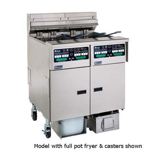 Pitco SSHLV14C-2/14T/FD Low Oil Volume Multi-Battery Gas Fryer & Filter