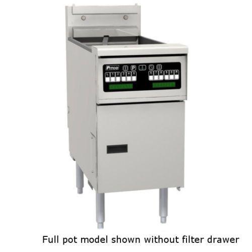 Pitco SSHLV14-C/FD Low Oil Volume Multi-Battery Gas Fryer & Filter 1 Fryer