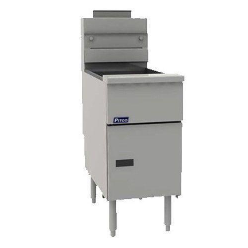 Pitco VF-35S Value Floor Model Gas Fryer - 35 lb. Oil Capacity