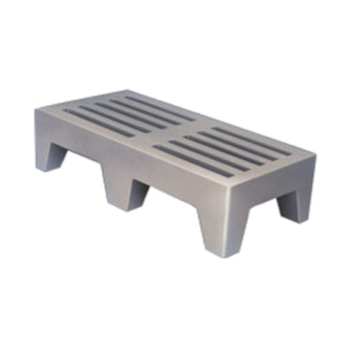 Winholt PLSQ-4-1222-GY Single-Tier Perforated Dunnage Rack
