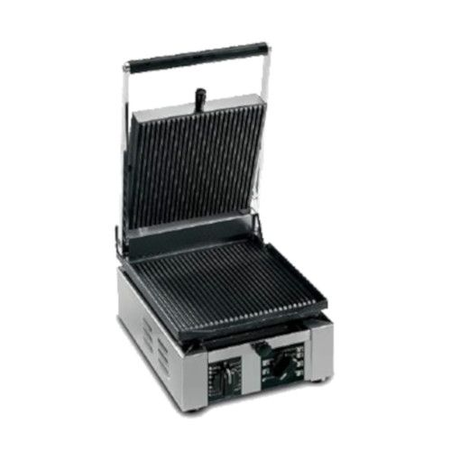 Univex PPRESS1R Single Countertop Panini Press with Ribbed Cast Iron Plates
