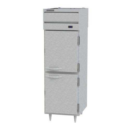 Beverage Air PRD1HC-1AHS Prestige Plus 1 Section Solid Half Door Pass-Thru Refrigerator
