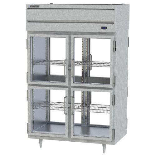 Beverage Air PRD2HC-1BHG Prestige Plus 2 Section Glass Half Door Pass-Thru Refrigerator