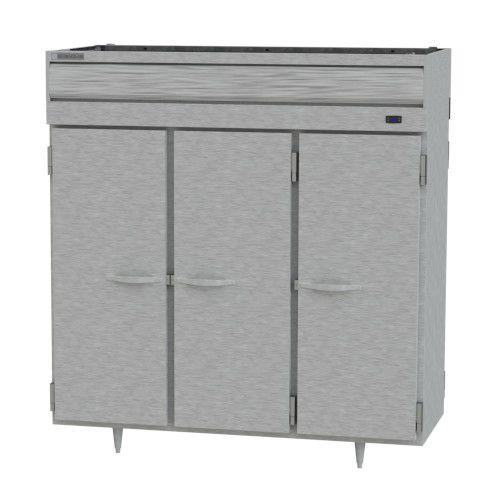 Beverage Air PRD3HC-1AS Prestige Plus 3 Section Solid Door Pass-Thru Refrigerator