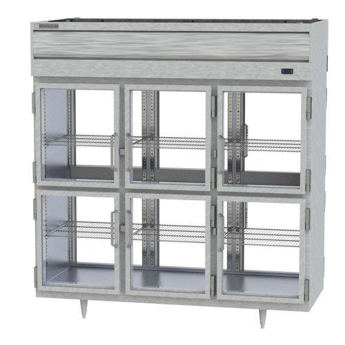 Beverage Air PRD3HC-1BHG Prestige Plus 3 Section Glass Half Door Pass-Thru Refrigerator