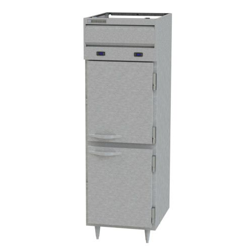 Beverage Air PRF12HC-12-1HS-02 Half Solid Single Section Dual Temp Refrigerator Freezer