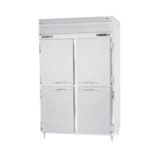 Beverage Air PRF24-24-1AHS02 Half Solid Two Section Dual Temp Refrigerator Freezer