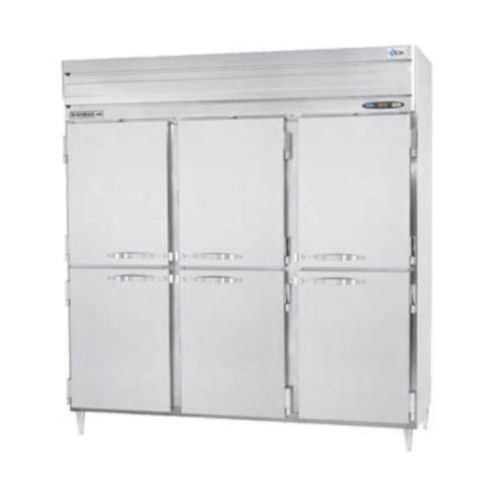 Beverage Air PRF48HC-24-1AHS-02 Half Solid Three Section Dual Temp Refrigerator Freezer