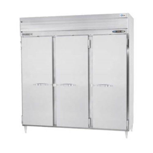 Beverage Air PRF48HC-24-1AS-02 Solid Door Three Section Dual Temp Refrigerator Freezer