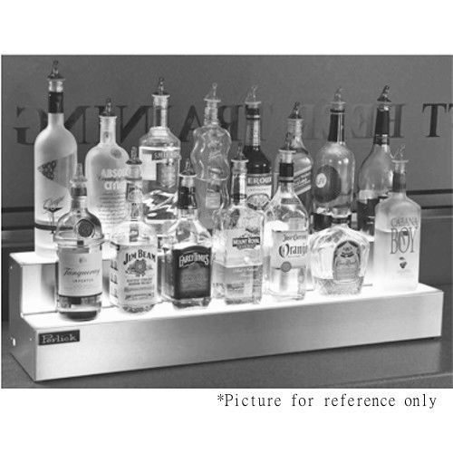 Perlick LMD2-72R Two Tier Countertop Liquor Bottle Display with White LED Lights - Right-Located Power Cord