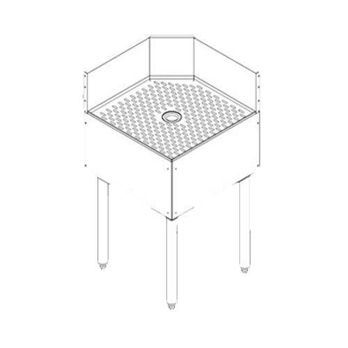 Perlick TS90TC Inside Full Corner 90° Angle Drainboard Top Corner Filler