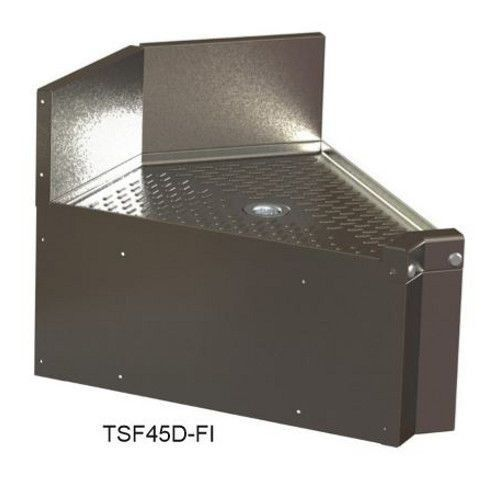 Perlick TSF75D-FI 75° Underbar Inside Corner Angle Filler with Drainboard