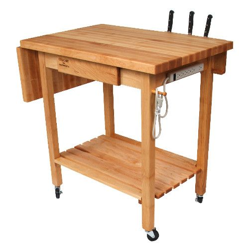 John Boos QCL Deluxe Culi Cart Boos Block Utility Table