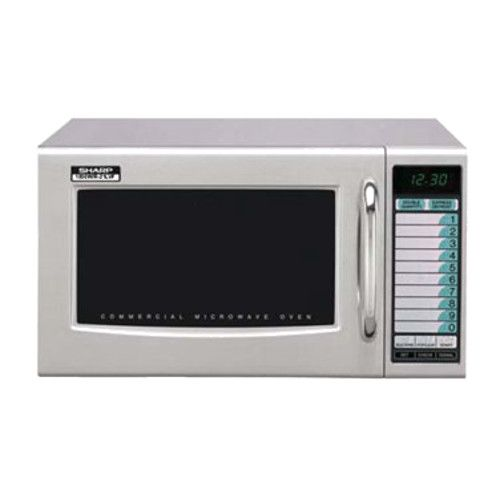 Sharp R-21LVF 1000 Watt Microwave Oven with Digital Controls and Express Defrost