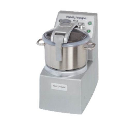 Robot Coupe R 15 Ultra Vertical Food Processor with 15 Qt. and 4 Qt. Stainless Steel Bowls