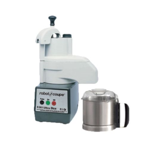 Robot Coupe R301 ULTRA Combination Continuous Feed Food Processor with 3.5 Qt. Stainless Steel Bowl