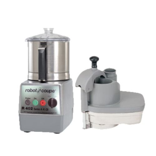 Robot Coupe R402 Combination Continuous Feed Food Processor with 4.5 Qt. Stainless Steel Bowl