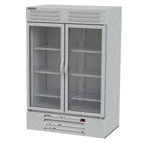 Beverage Air RB49HC-1G Glass Door Two Section Reach-In Refrigerator