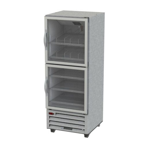 Beverage Air RI18HC-HG Half Glass Single Section Reach-In Refrigerator