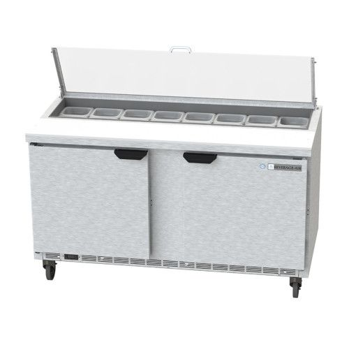 Beverage Air SPE60HC-16-CL Elite Clear Lid Sandwich / Salad Refrigerated Counter