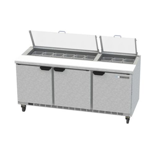 Beverage Air SPE72HC-18-CL Elite Clear Lid Sandwich / Salad Refrigerated Counter