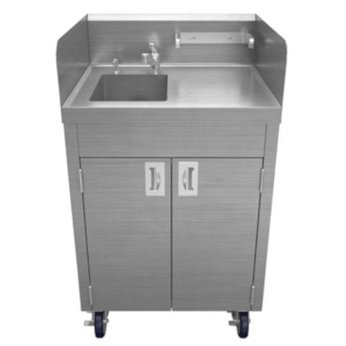 Winholt STCT-BHD2436PUMP Mobile Hand Sink with 13 oz. Soap Dispenser