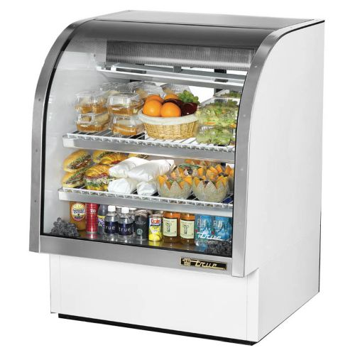 True TCGG-36-LD Curved Glass Deli Case 36-1/4