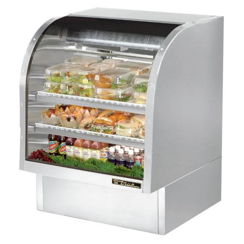 True TCGG-36-S-LD Curved Glass Deli Case 36-1/4