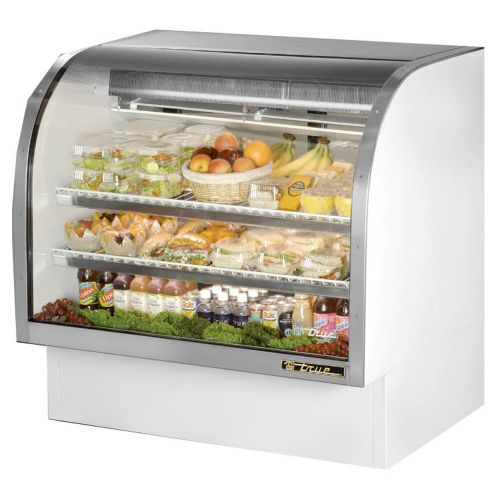 True TCGG-48-LD Curved Glass Deli Case 48-1/4