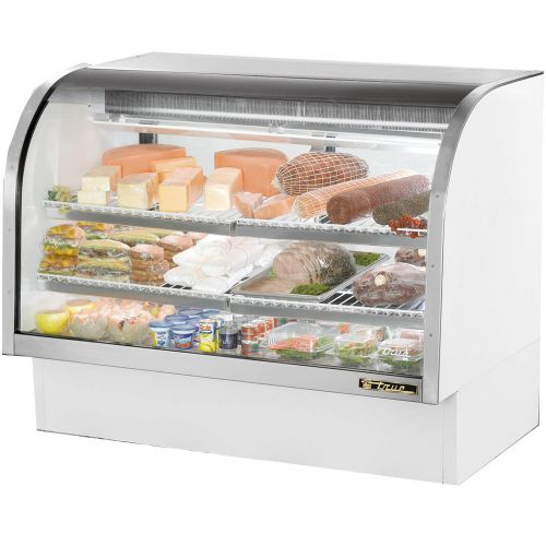 True TCGG-60-LD Curved Glass Deli Case 60-1/4