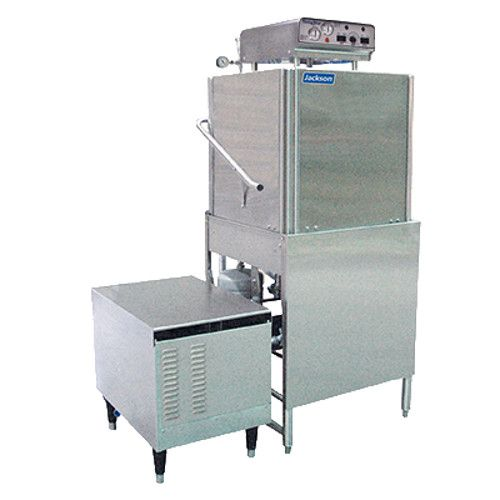 Jackson Tempstar GPX High Temperature Doortype Dish Machine with Exterior Gas Booster Heater