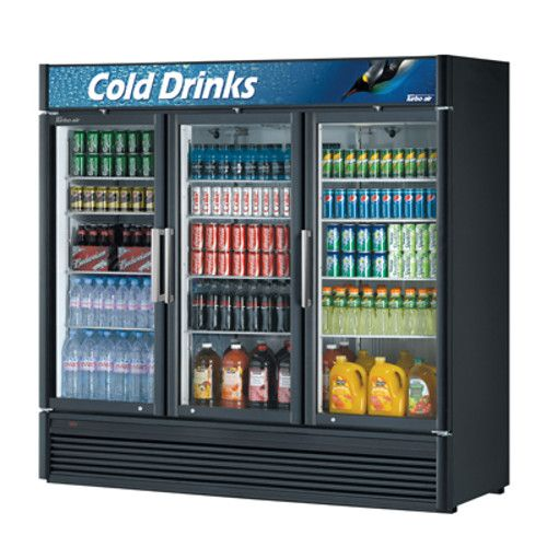Turbo Air TGM-72SD-N6 Three-Section Super Deluxe Display Refrigerator