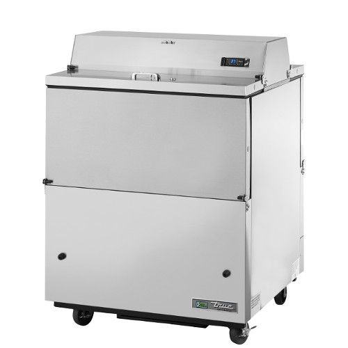 True TMC-34-S-DS-HC Forced Air Dual Sided Stainless Exterior/Aluminum Interior Mobile Milk Cooler