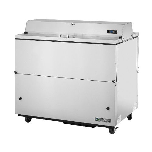 True TMC-49-S-DS-HC Forced Air Dual Sided Stainless Exterior/Aluminum Interior Mobile Milk Cooler