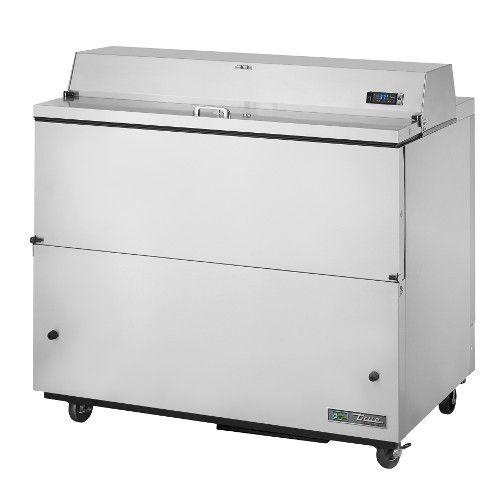 True TMC-49-S-HC Forced Air Stainless Exterior & Aluminum Interior Mobile Milk Cooler