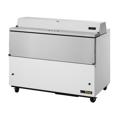 True TMC-58-HC Forced Air White Exterior & Aluminum Interior Mobile Milk Cooler