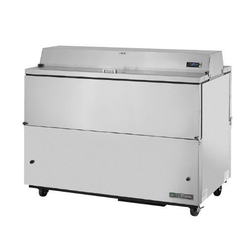 True TMC-58-S-DS-HC Forced Air Dual Sided Stainless Exterior/Aluminum Interior Mobile Milk Cooler